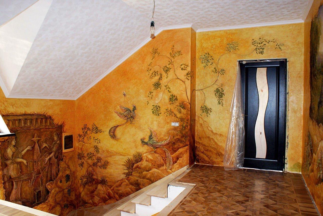 Пример рисунков и лепнины на стенах в Краснодаре