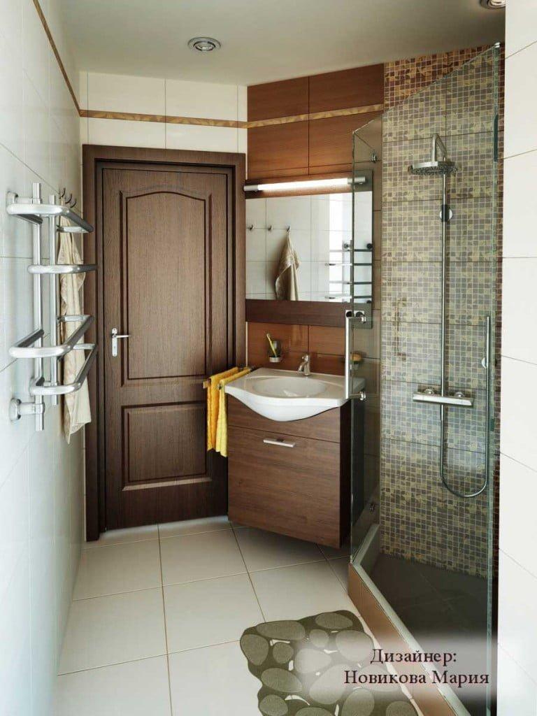 Визуализация из проекта туалет и душевая