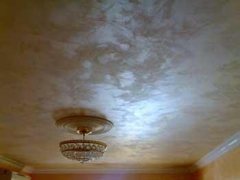 Штукатурка декоративная на потолках