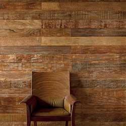 отделка стен натуральным деревом