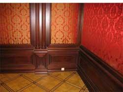 Красочная отделка стен готовыми деревянными панелями