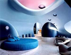 Необычная отделка комнаты