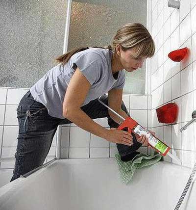 Герметизация швов вокруг ванны своими руками
