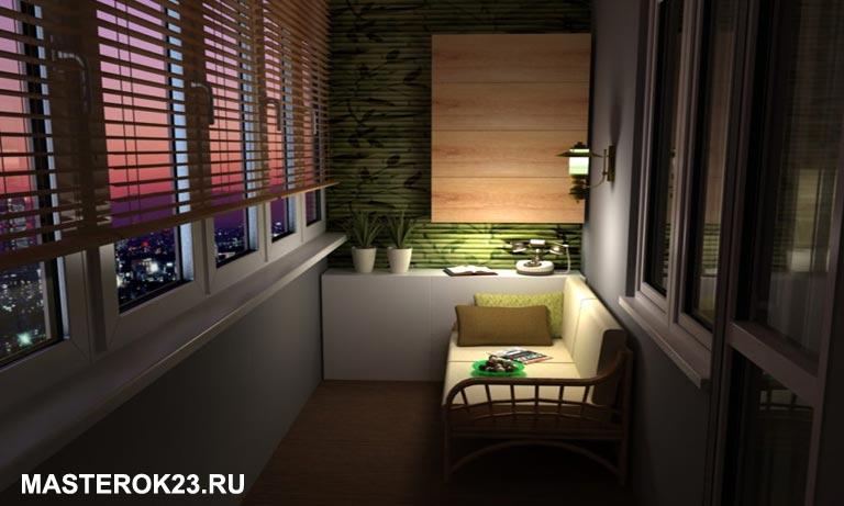 Балкон в квартире соединили с кухней