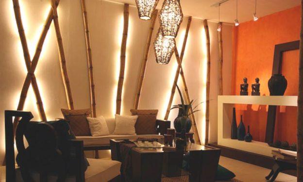 Бамбук в интерьере комнаты