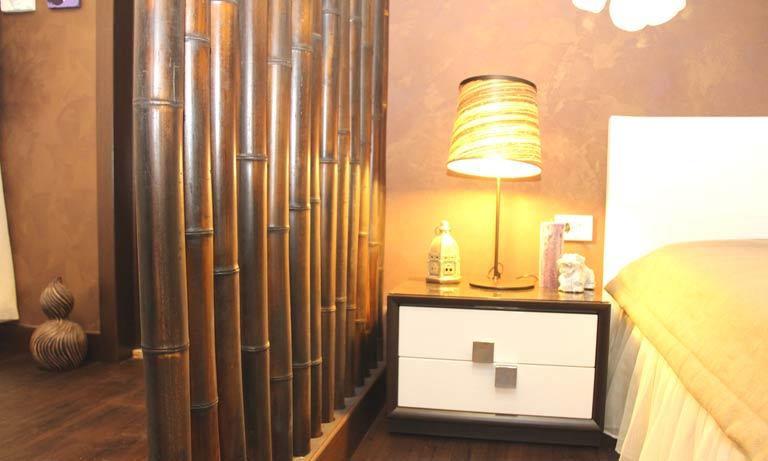 Использование бамбука для декорирования комнаты