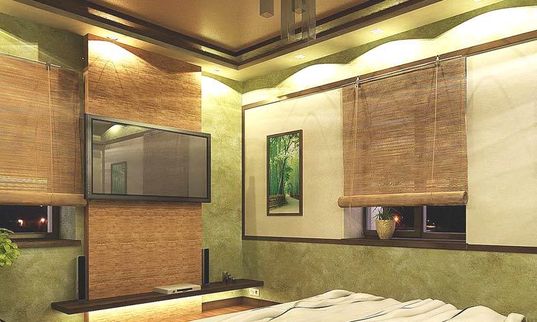 Натуральный бамбук в интерьере квартиры