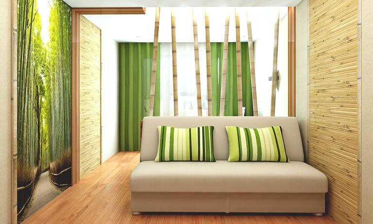 Применение бамбука в отделке квартир