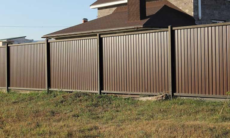 Забор для частного дома и дачи