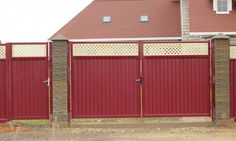 Модульный металлический забор