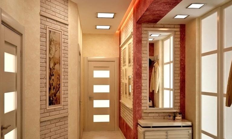 Грамотное распределение освещения в коридоре