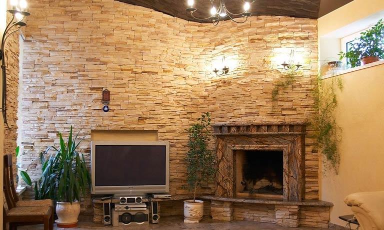 Каменная плитка для отделки квартиры
