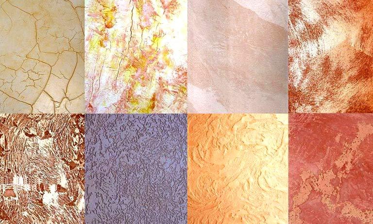 Поверхность стен после окраски фактурными красками