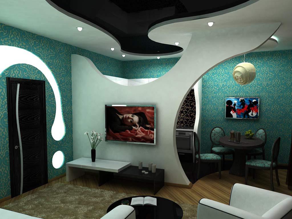 Применение перегородки из гипсокартона в дизайне комнаты