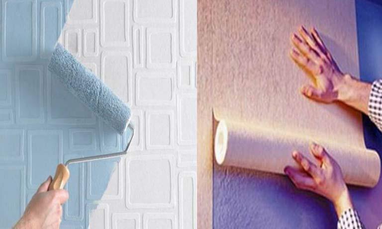 Выбор отделки для стен краска или обои