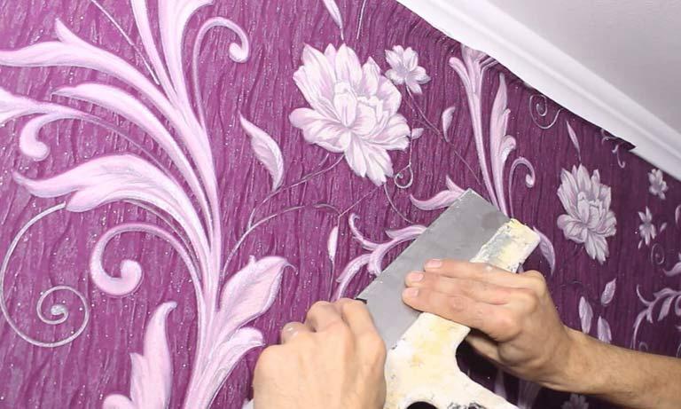 Замена покраски стен на обои