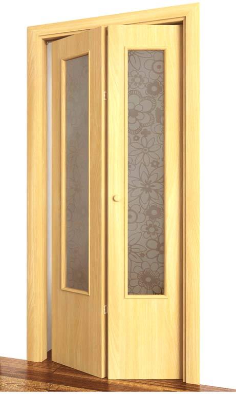 Складная двухстворчатая дверь