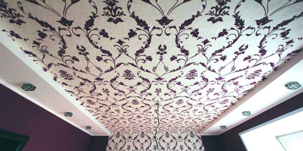 Обои на потолке такие же как на стенах фото